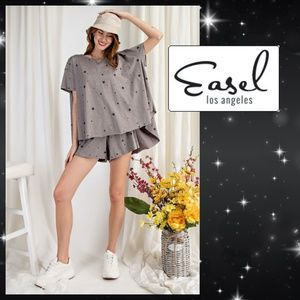 Easel Fly Me to the Stars 2 Piece Shorts -Tee Set